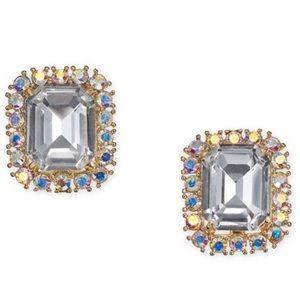 Kate Spade Square Stud Earrings / Cubic Zirconium
